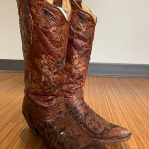 Corral Vintage Sequin Boots - Size 7.5
